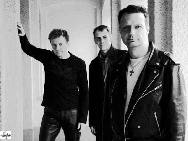 Drei Musiker der Tributeband